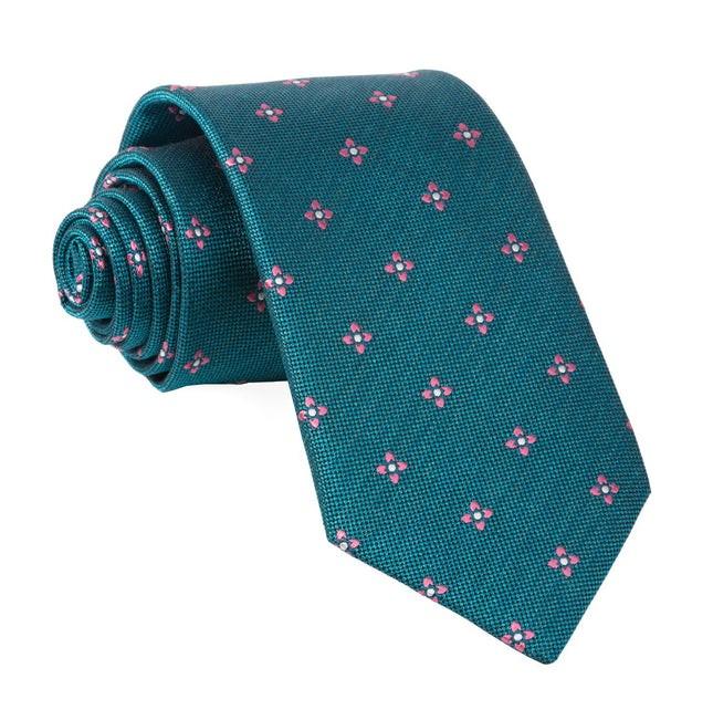 Prairie Geo Teal Tie