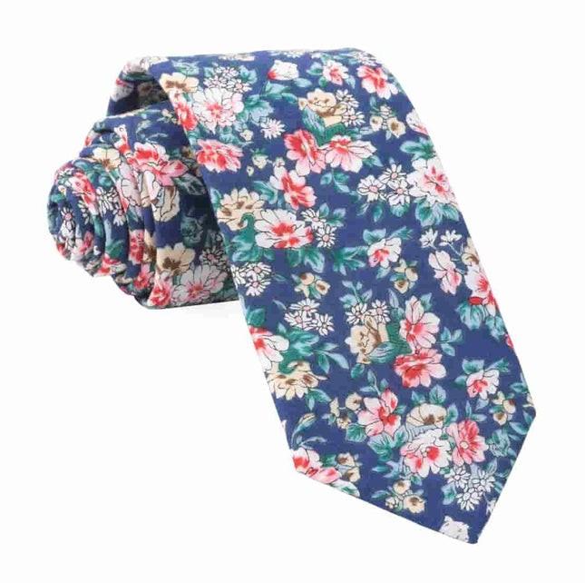Rustica Florals Navy Tie