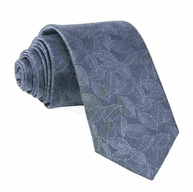 Tonal Leaf Slate Blue Tie