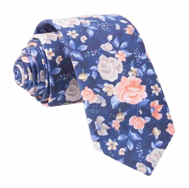 Gardenia Blooms Navy Tie