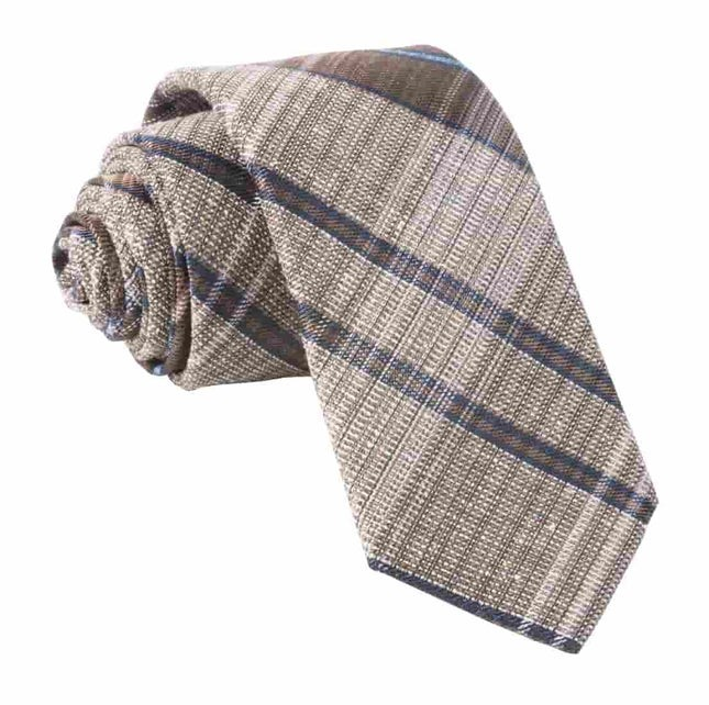 Misty Plaid Brown Tie