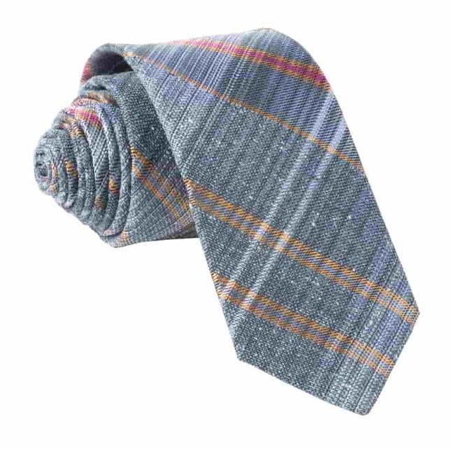 Misty Plaid Slate Blue Tie