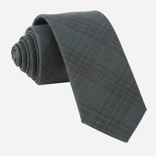 Harvest Glen Plaid Hunter Green Tie