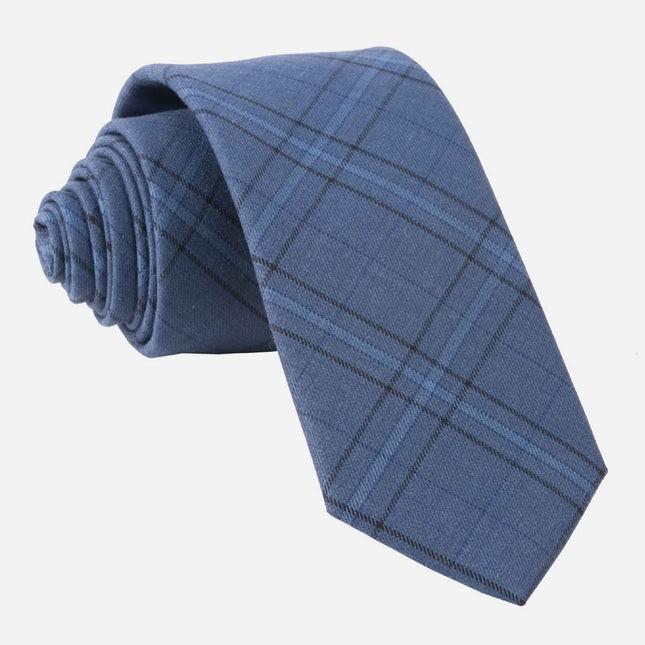 Quotidian Plaid Navy Tie