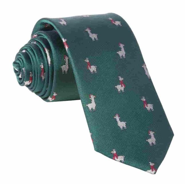 Fa-La Llama Hunter Green Tie
