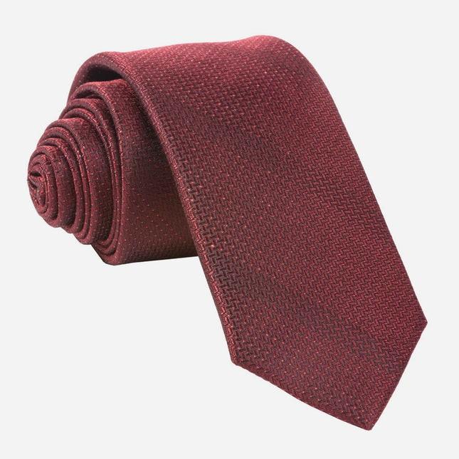 Glimmer Burgundy Tie