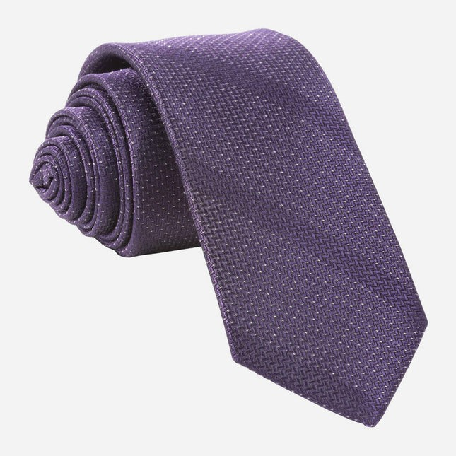 Glimmer Eggplant Tie