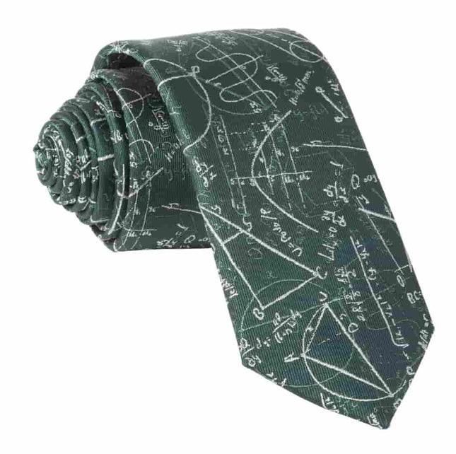 Math Equations Hunter Green Tie
