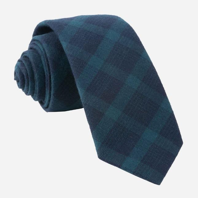 Mark Plaid Hunter Green Tie