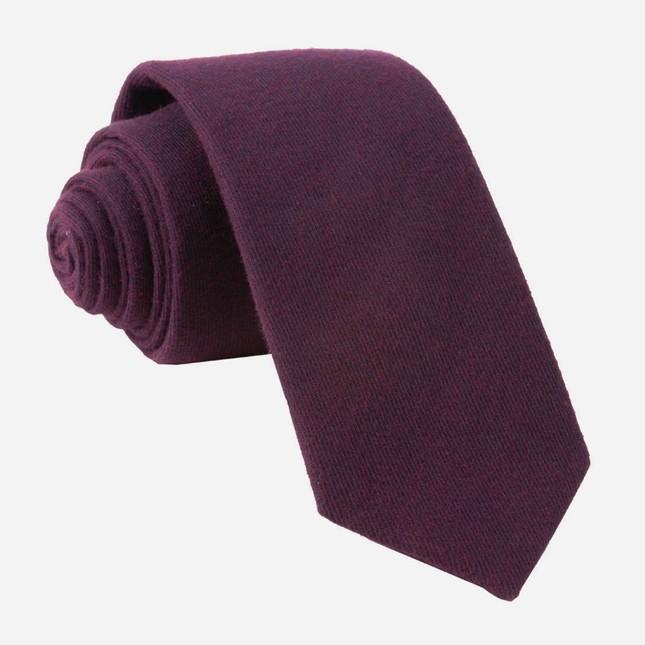 Mark Solid Burgundy Tie