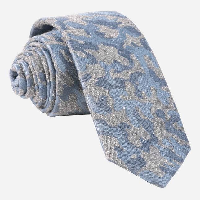 Speckled Camo Grey Tie