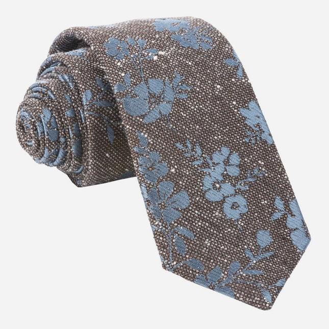 Onyx Floral Brown Tie