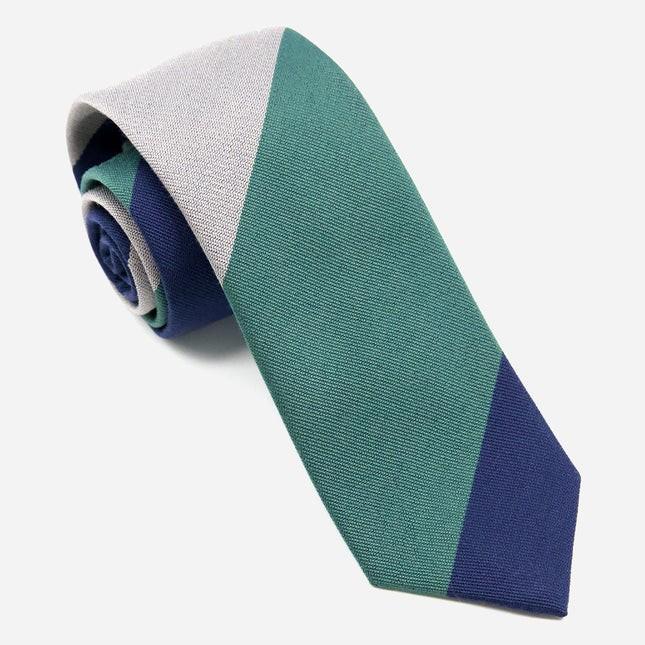 The Mega Stripe Green Tie