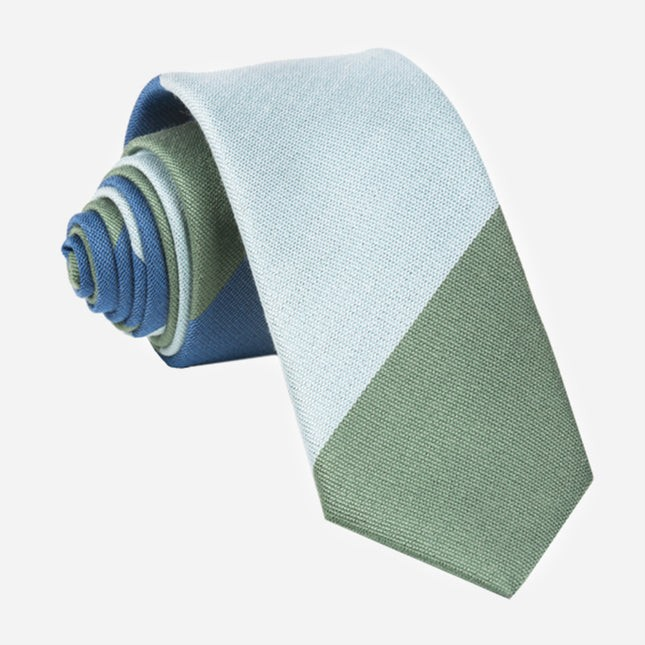 The Mega Stripe Navy Tie