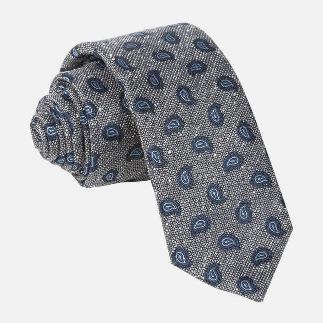 Darren Paisley Grey Tie