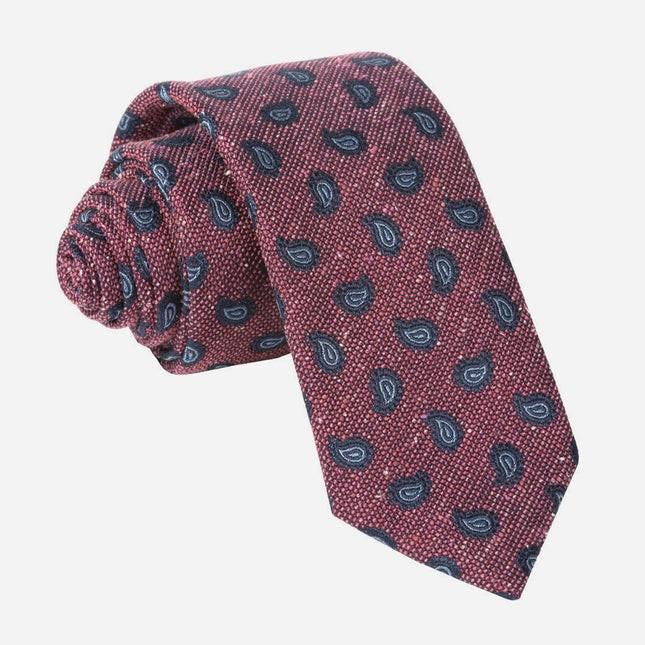 Darren Paisley Raspberry Tie