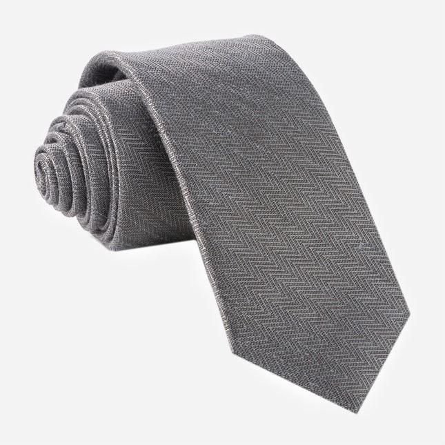Alleavitch Herringbone Charcoal Tie