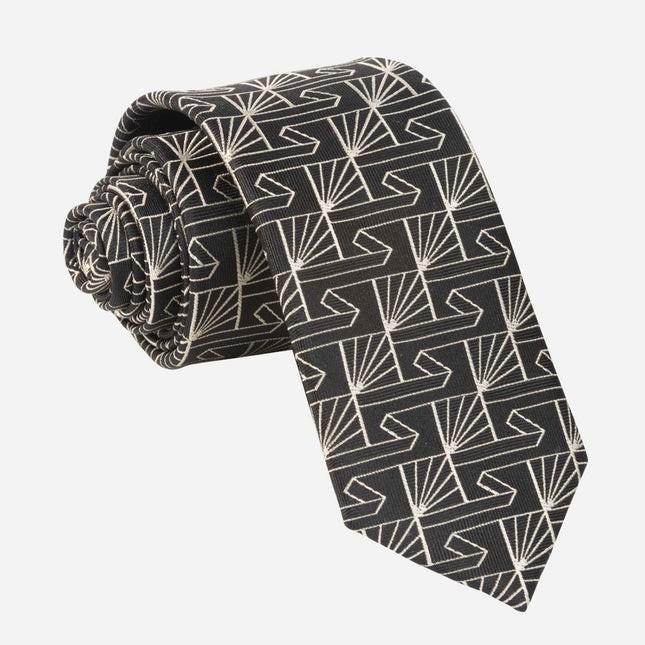 Art Deco Fanfare Black Tie