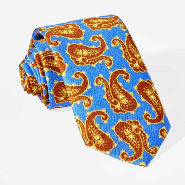 Wild Paisley Classic Blue Tie