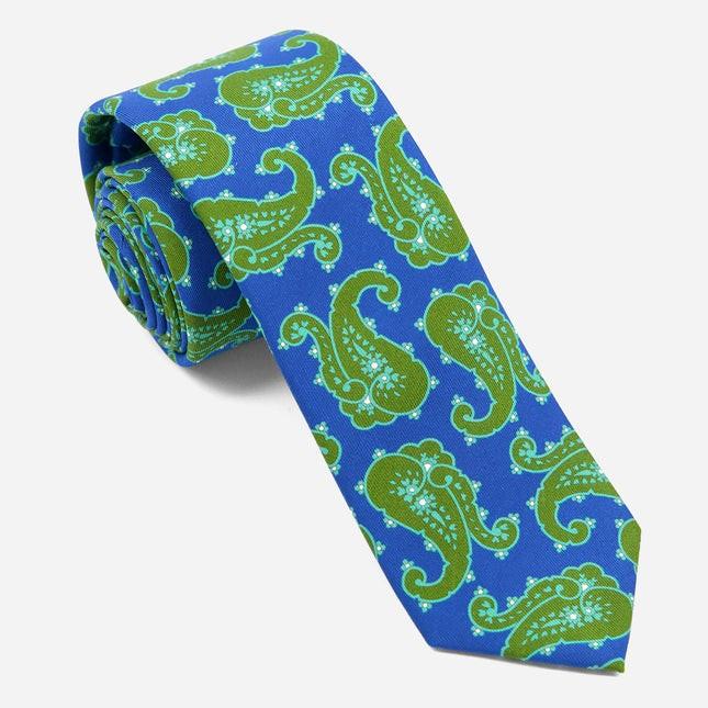 Wild Paisley Olive Green Tie