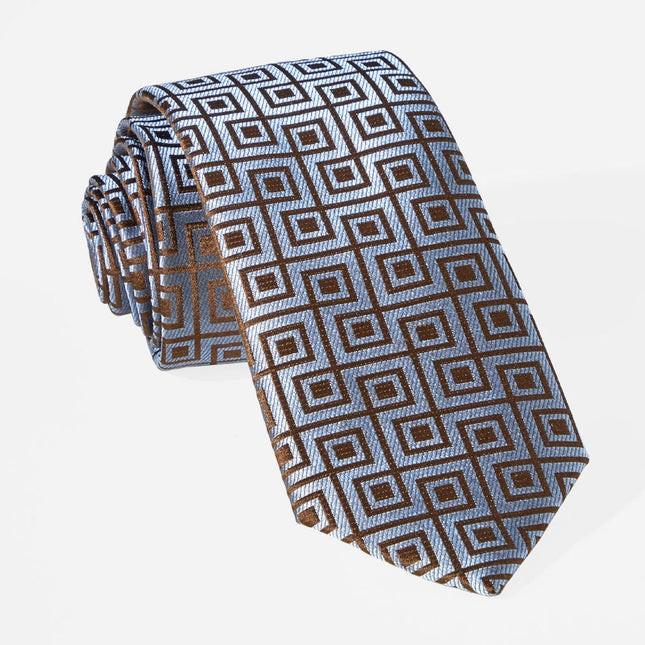 Square Geo Slate Blue Tie