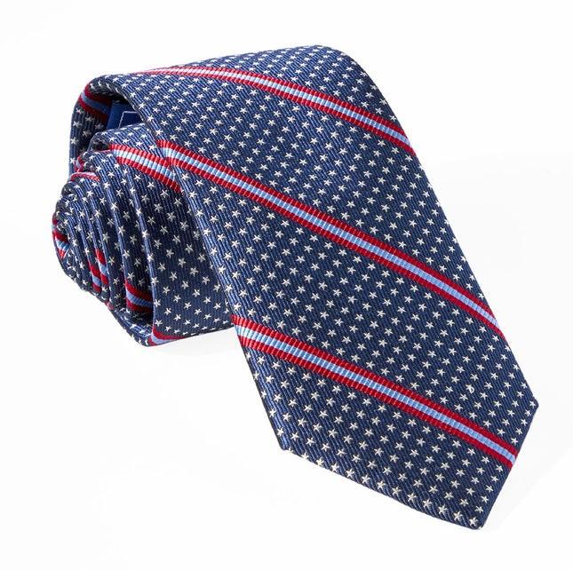 Stars And Stripes Navy Tie