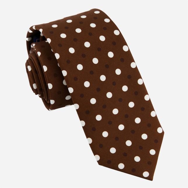 Hidden Dots Chocolate Brown Tie