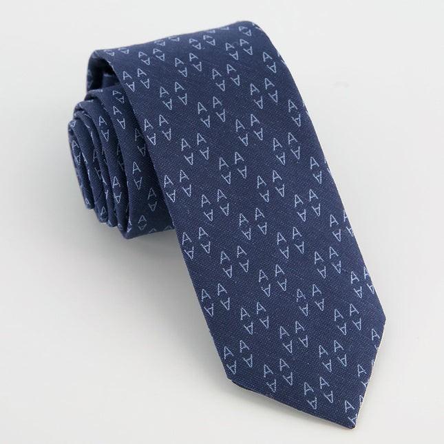 Monogram Navy A Tie