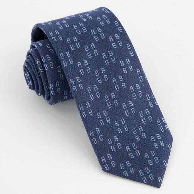 Monogram Navy B Tie