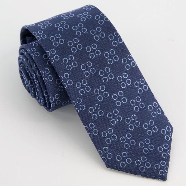 Monogram Navy O Tie