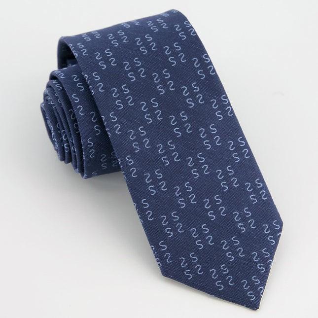 Monogram Navy S Tie