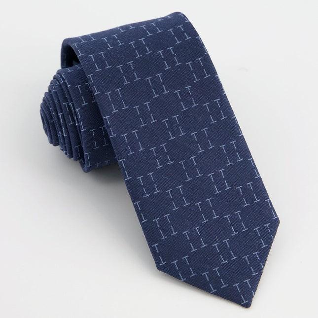 Monogram Navy T Tie