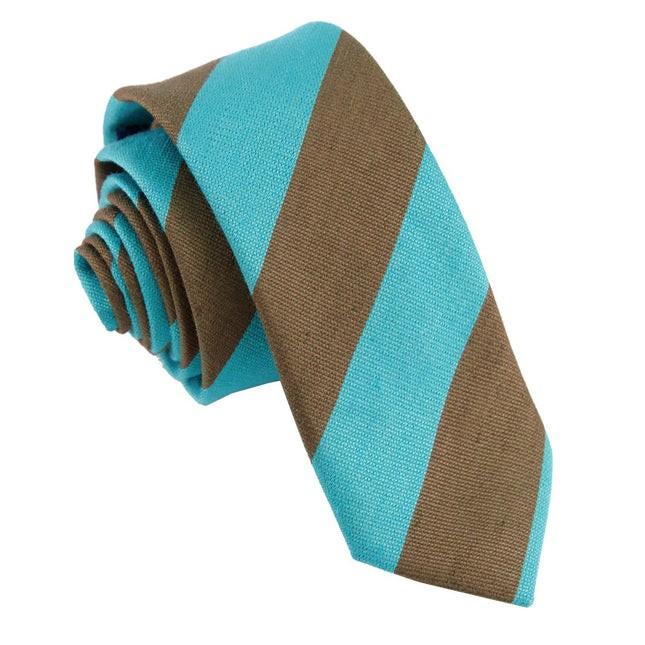 Varsity Bar Stripe Chocolate Brown Tie