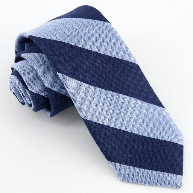 Varsity Bar Stripe Navy Tie