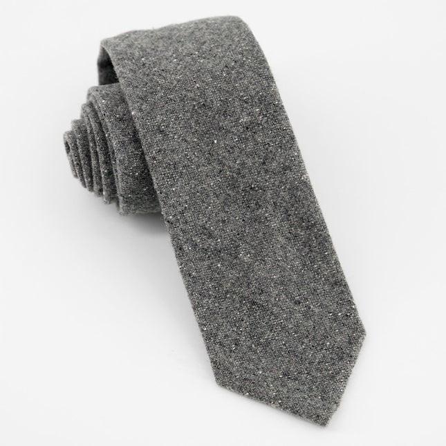 Unlined Donegal Wool Light Grey Tie