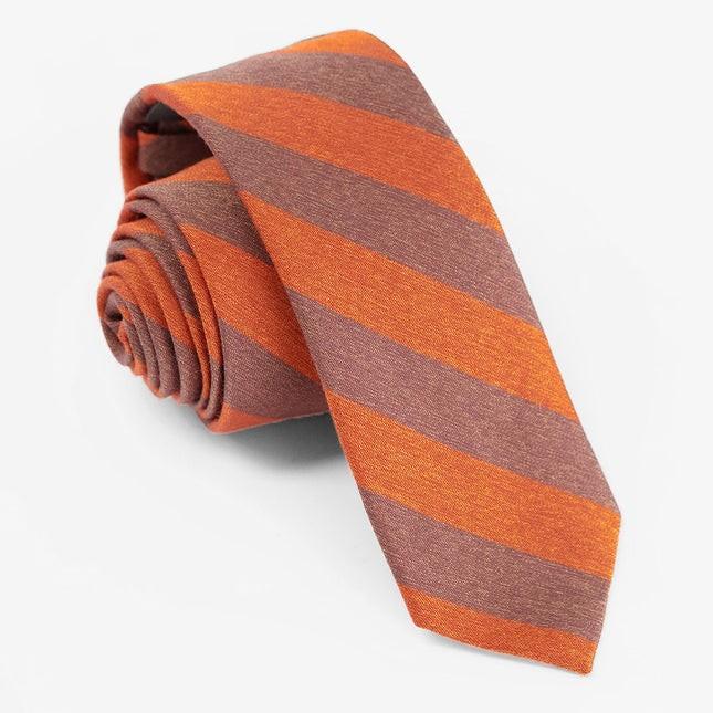 Textured Double Stripe Rust Tie