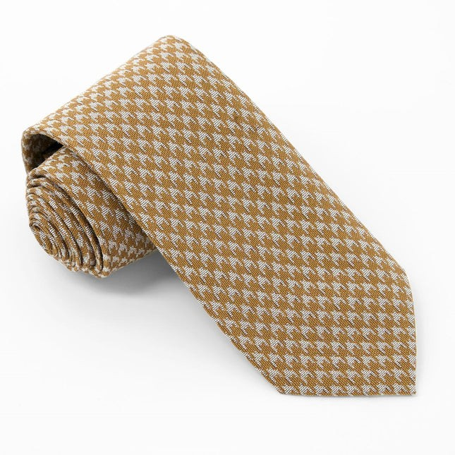 Royal Houndstooth Mustard Tie