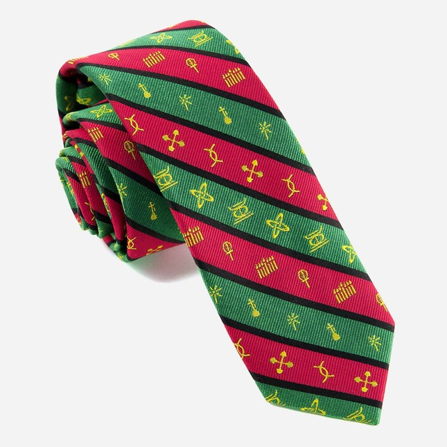 Kwanzaa Celebration Red Tie