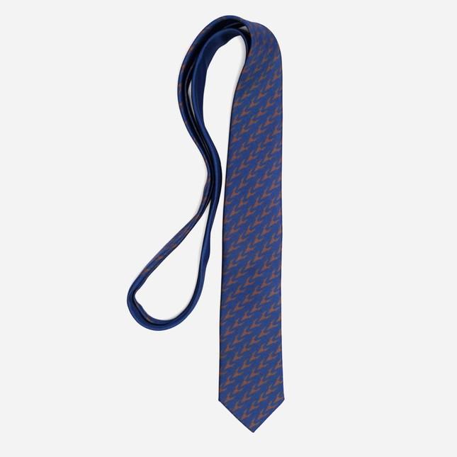 Tie Bar x Michel Men Monogram Chocolate Brown Tie