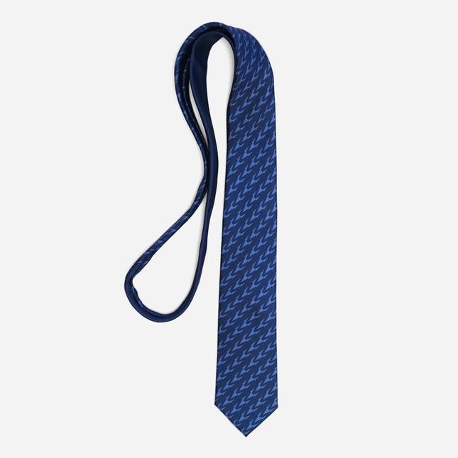 Tie Bar x Michel Men Monogram Navy Tie
