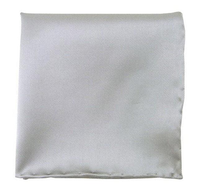 Solid Twill Silver Pocket Square