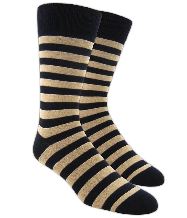 Boarding Stripe Champagne Dress Socks