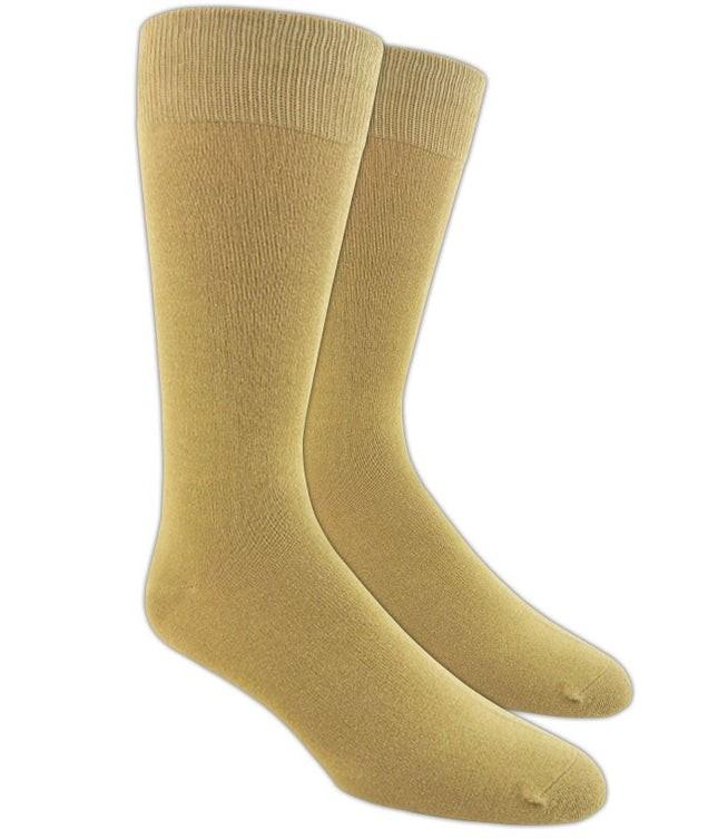 Solid Khaki Dress Socks