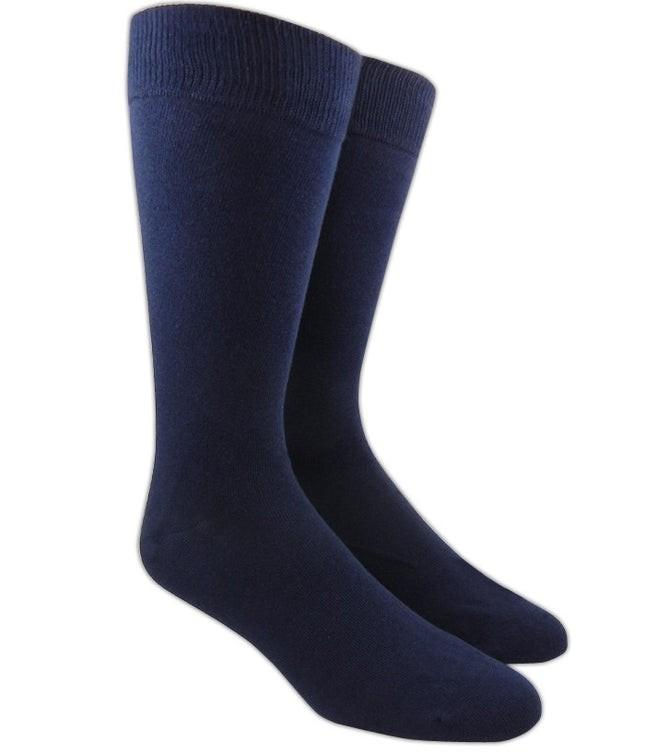 Solid Navy Dress Socks