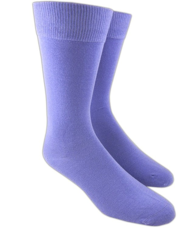 Solid Lavender Dress Socks