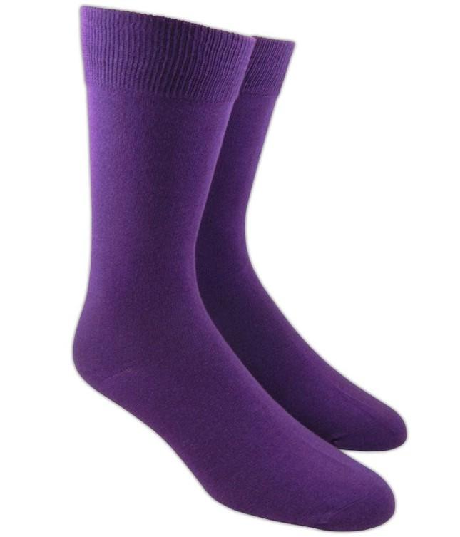 Solid Plum Dress Socks
