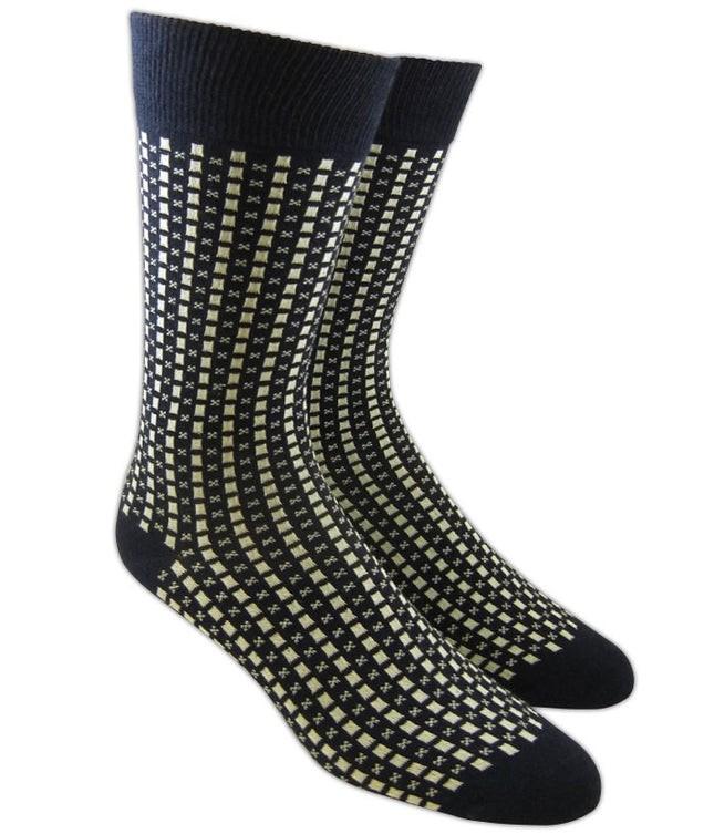 Our Squares Navy Dress Socks