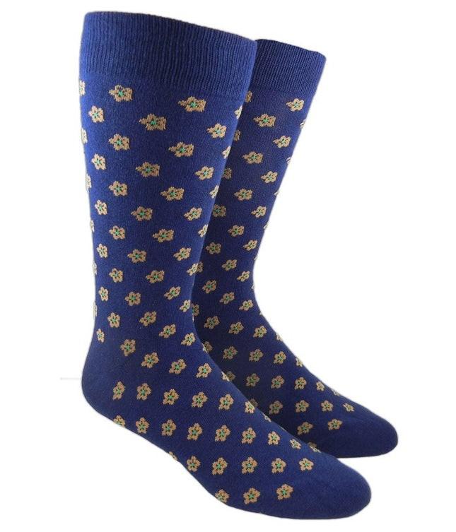 Anemones Classic Navy Dress Socks