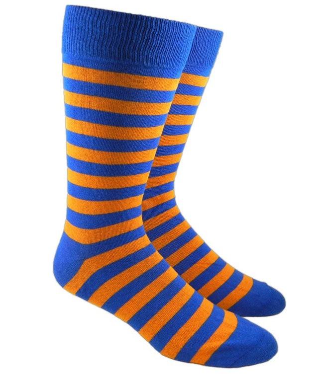 Twill Stripe Tangerine Dress Socks