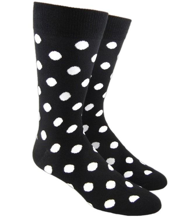 Pop Dots Black Dress Socks